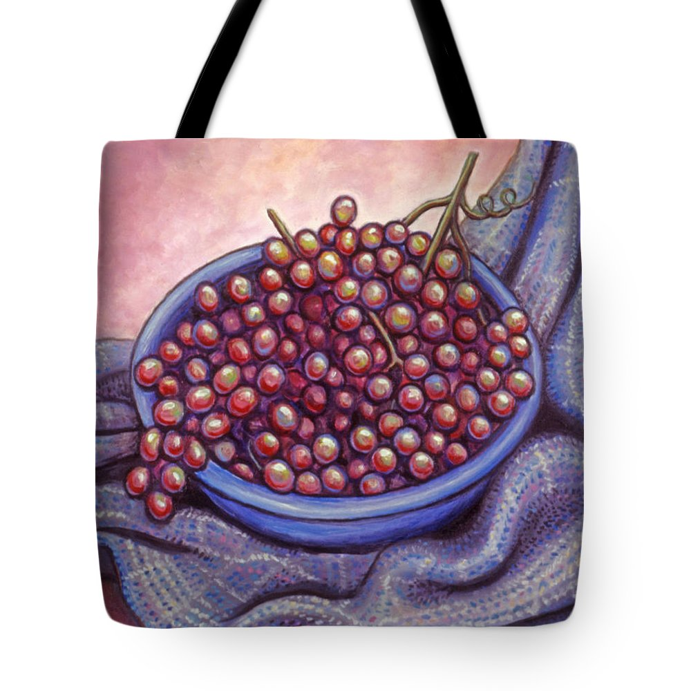 Fruit Tote Bag featuring the painting Fruit Of The Vine by Linda Mears