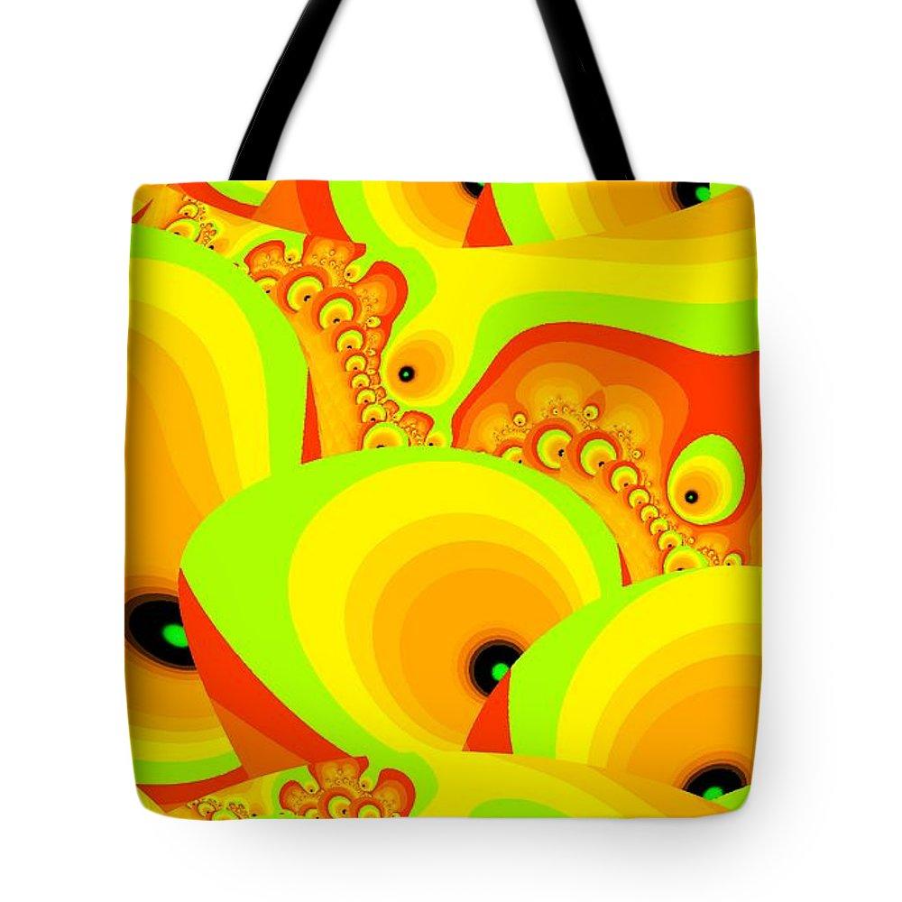 Salad Tote Bag featuring the digital art Fruit Paradise by Anastasiya Malakhova