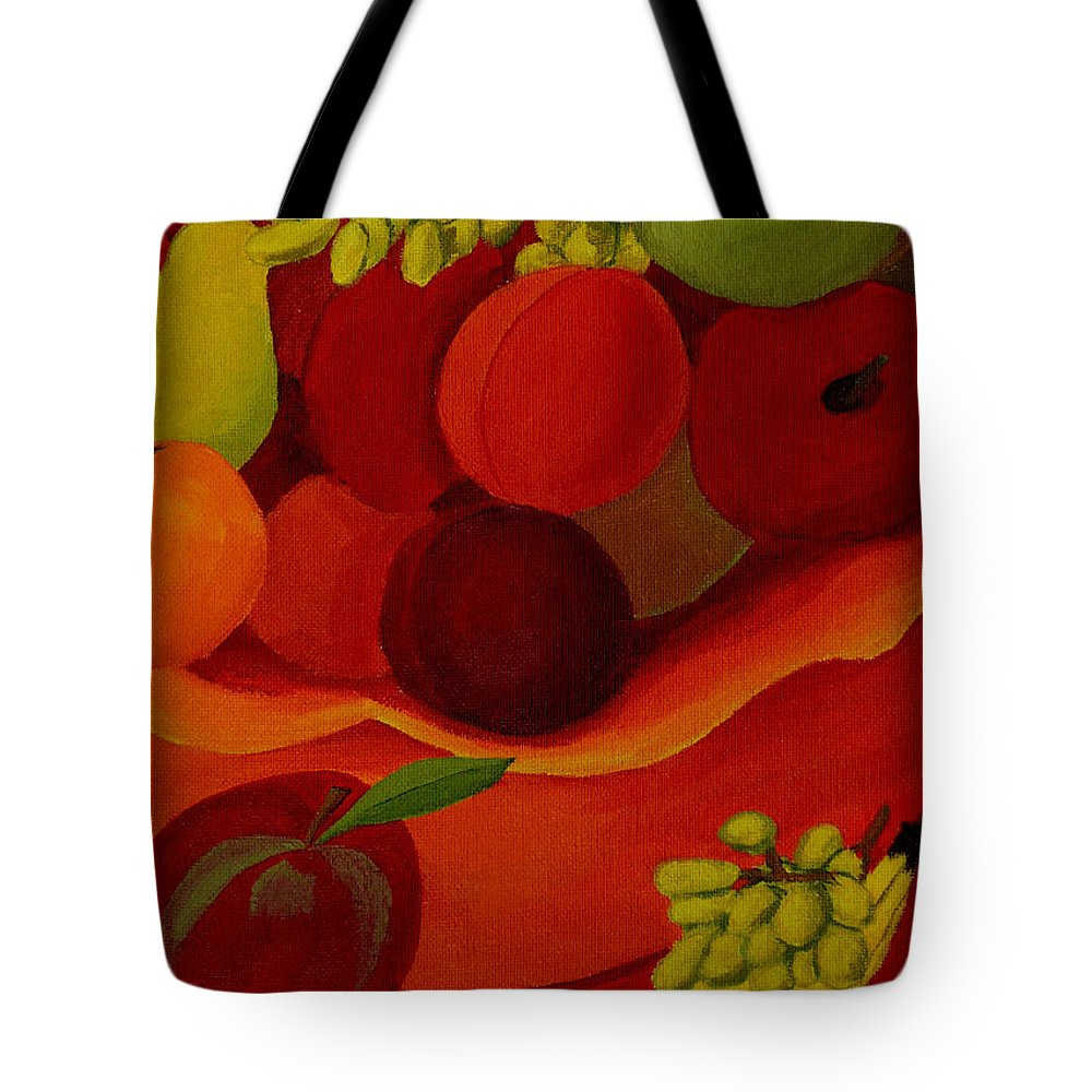 Fruit Tote Bag featuring the painting Fruit-still Life by Anthony Dunphy
