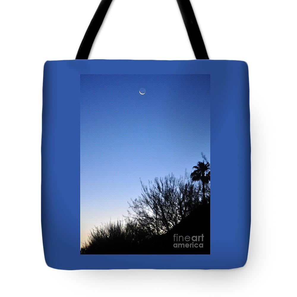 Moon Tote Bag featuring the photograph Full Moon Faded by Jay Milo