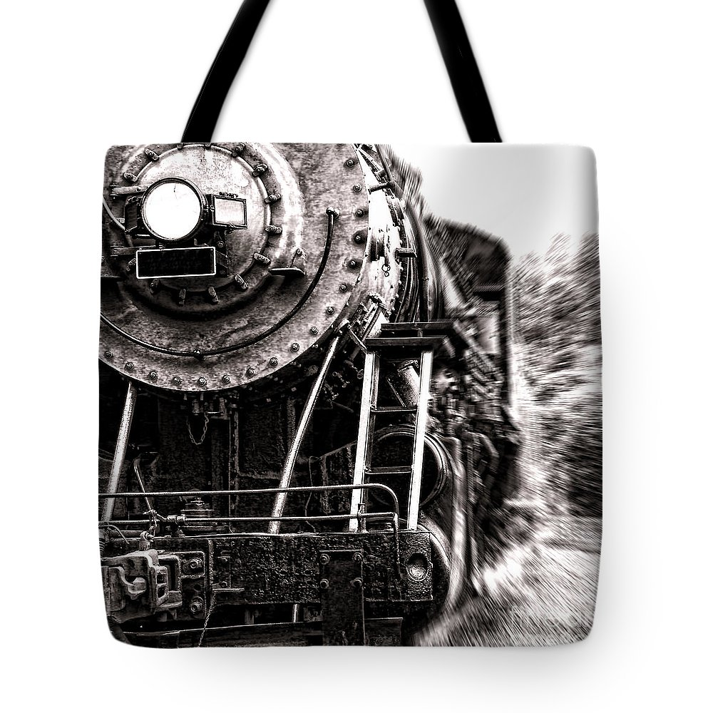 Steam Tote Bag featuring the photograph Full Steam by Olivier Le Queinec
