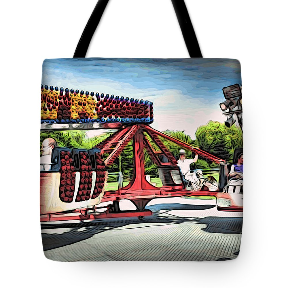Amusement Tote Bag featuring the digital art Fun Time by Paul Stevens