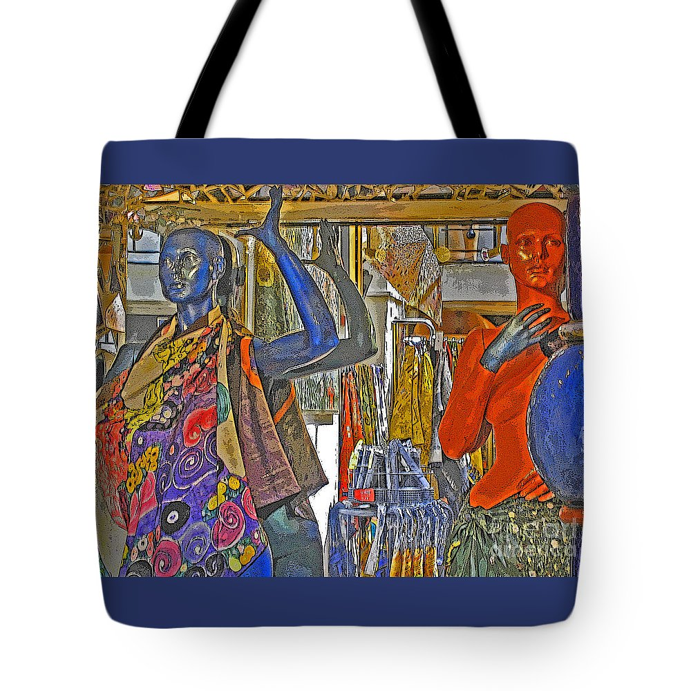 Fashion Tote Bag featuring the photograph Funky Boutique by Ann Horn