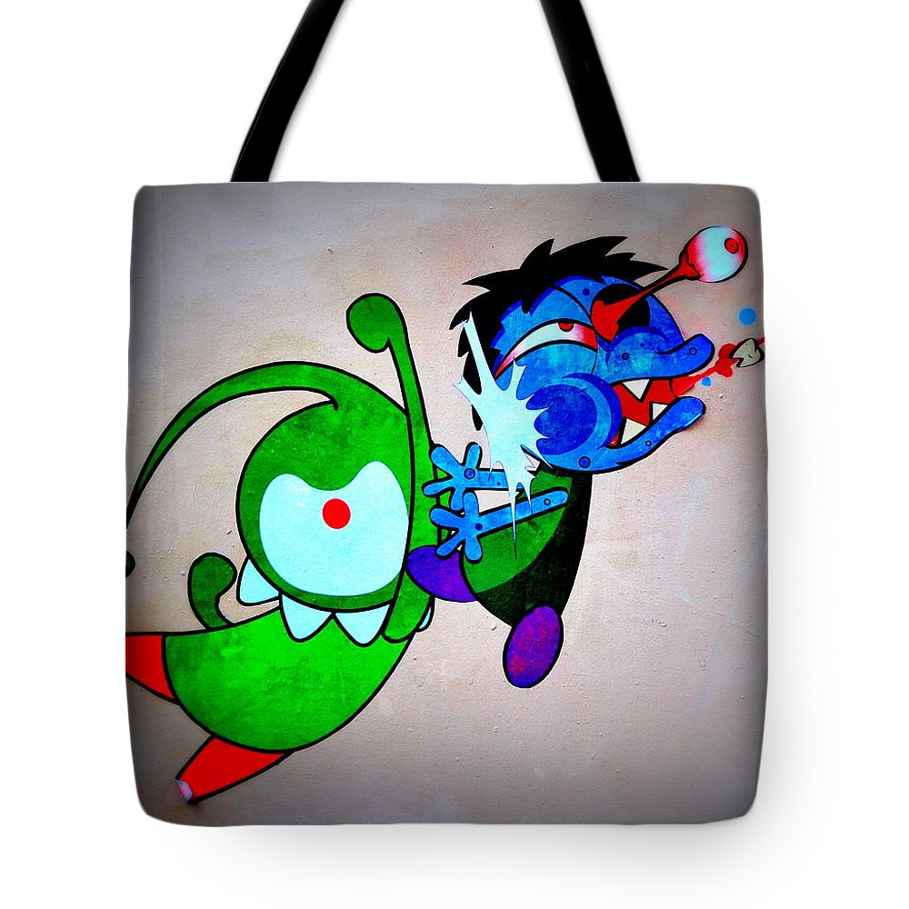 Tote Bag featuring the photograph Funny Friends by Riad Belhimer