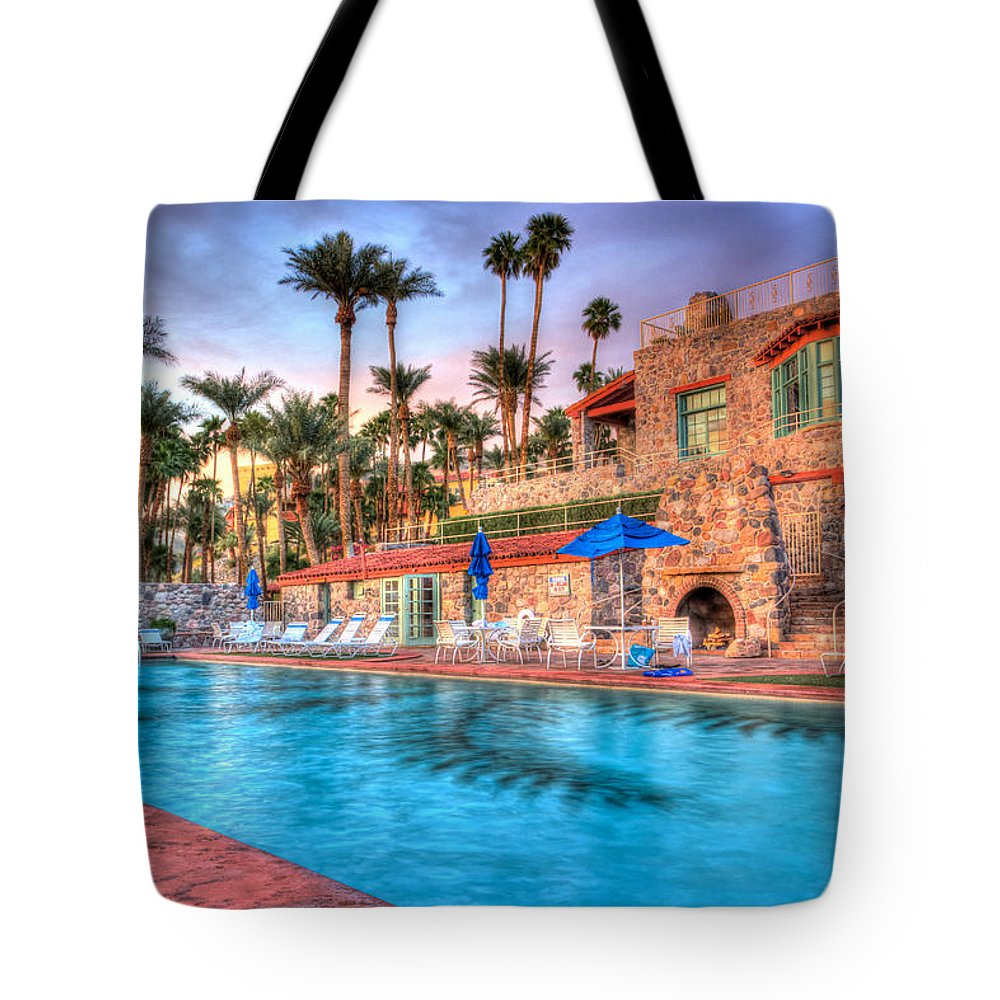 Death Tote Bag featuring the photograph Furnace Creek Inn Sunset by Heidi Smith