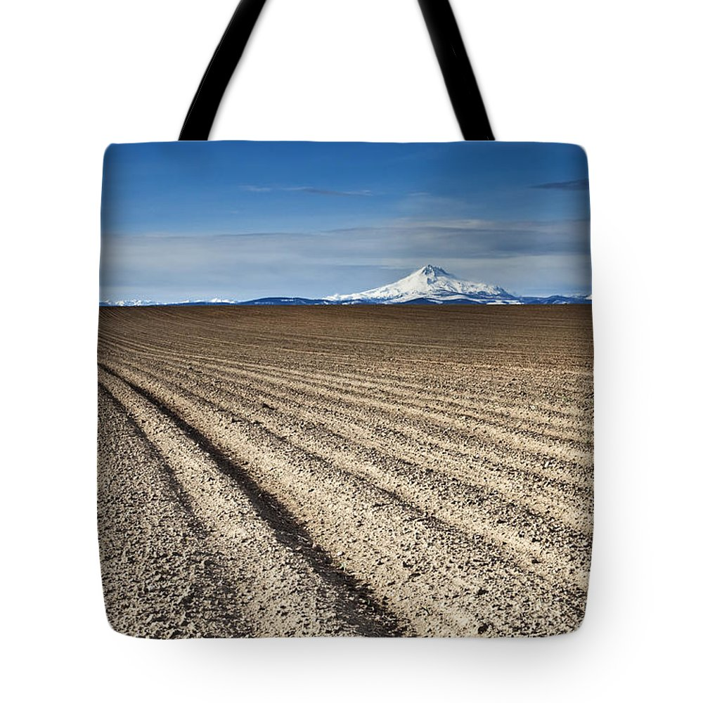 Furrows Tote Bag featuring the photograph Furrows by Mike Dawson