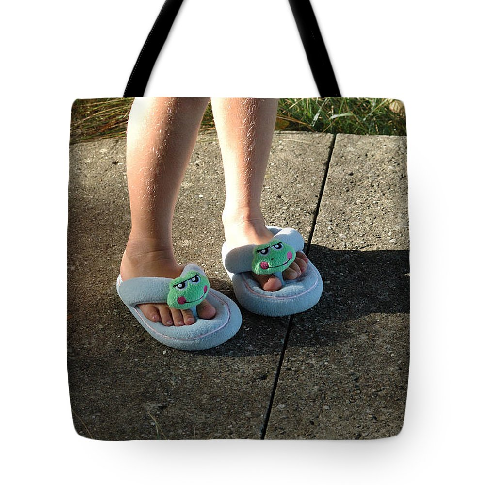 Cute Tote Bag featuring the photograph Fuzzy Slippers by Scott Angus