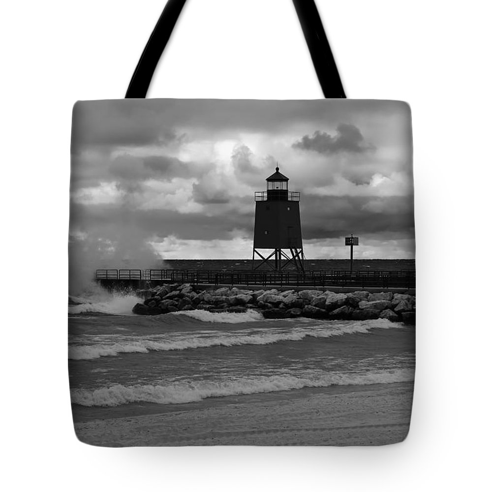 Gales Of November Tote Bag featuring the photograph Gales Of November Mono by Rachel Cohen