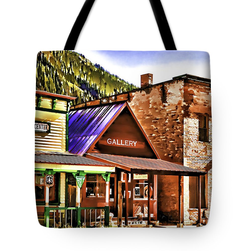 Gallery Tote Bag featuring the painting Gallery by Muhie Kanawati