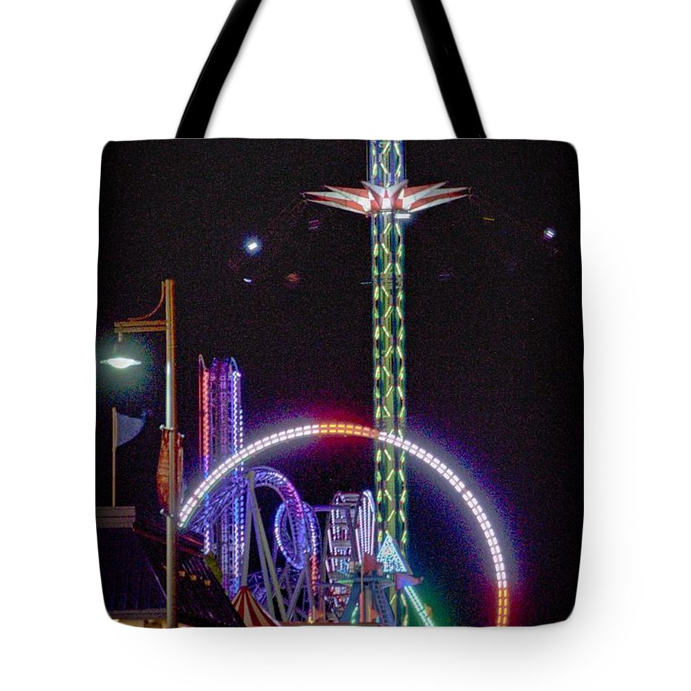 Galveston Tote Bag featuring the photograph Galveston Pleasure Pier by Kristina Deane