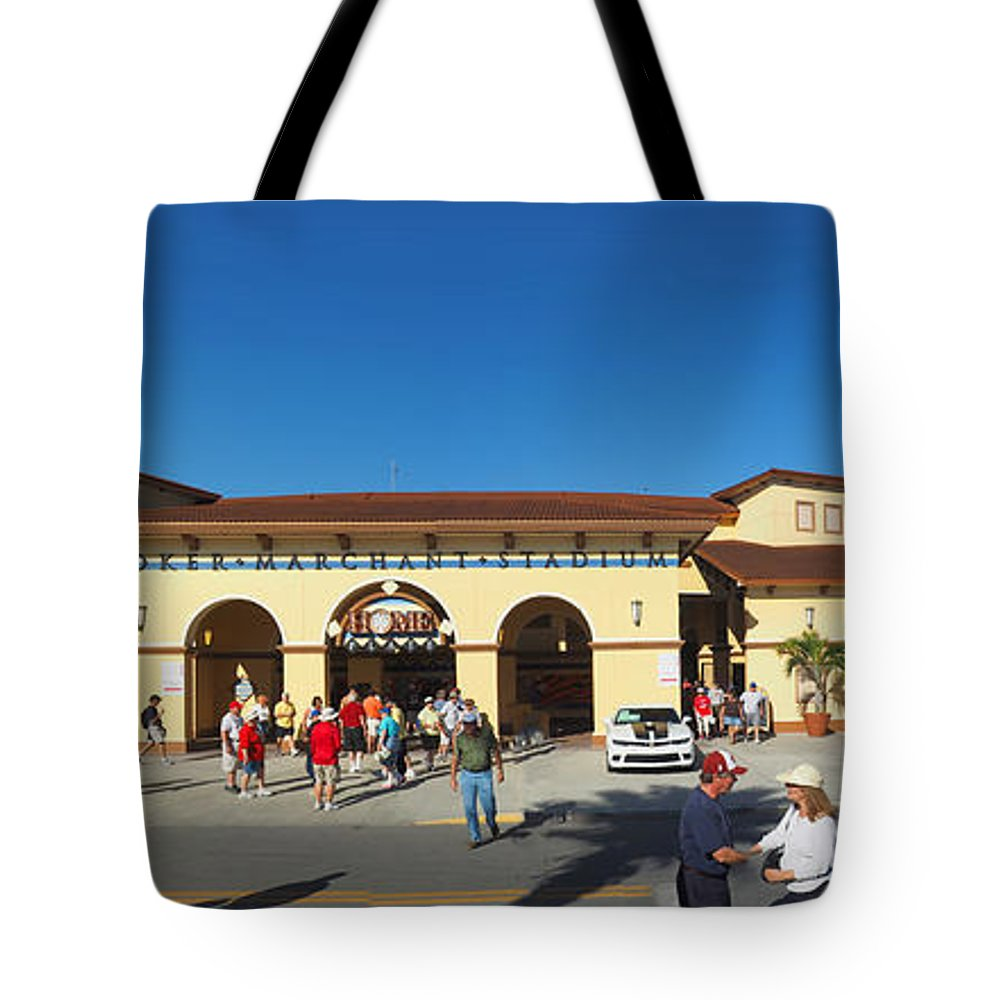 Joker Marchant Tote Bag featuring the photograph Game Day At Joker Marchant by C H Apperson