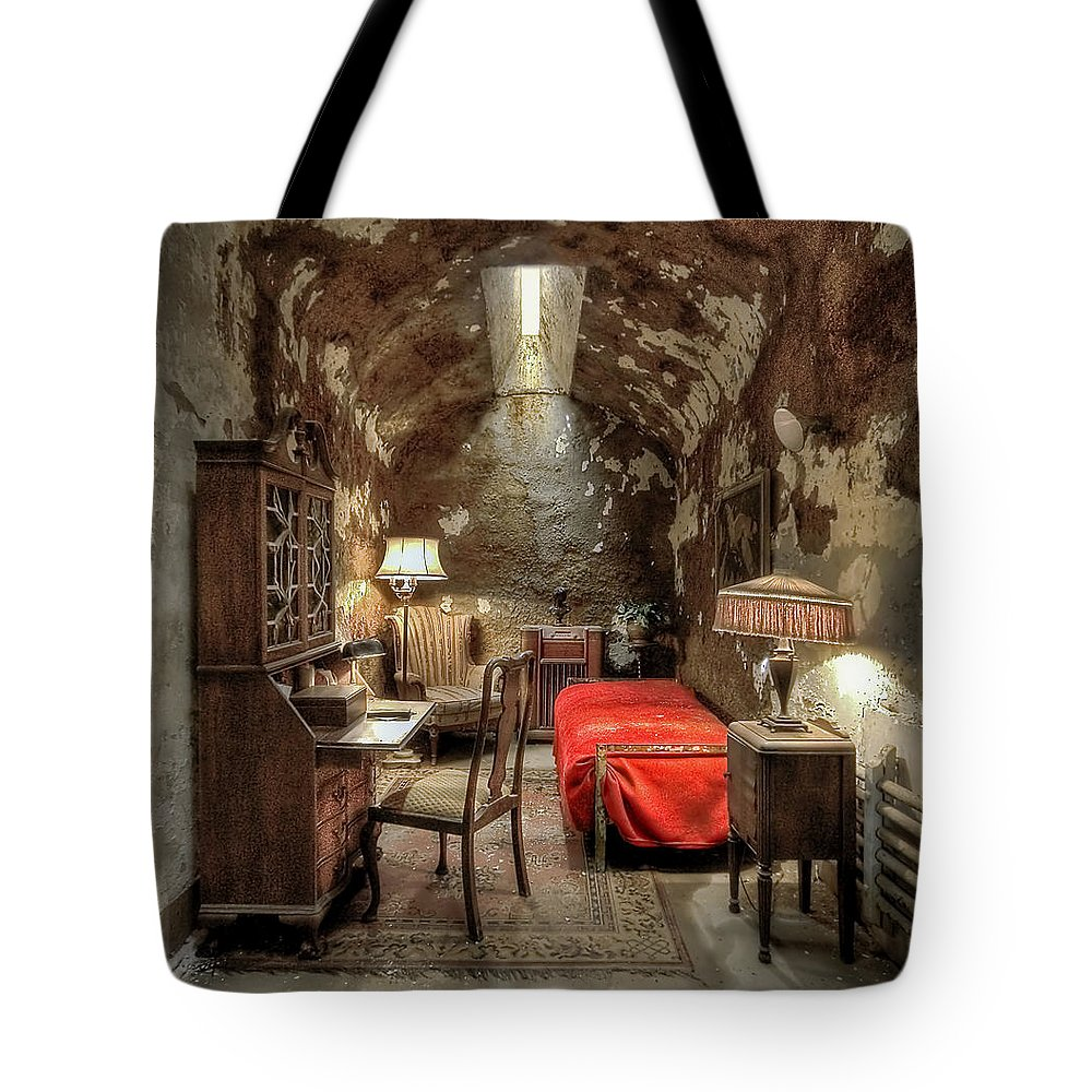 Abandoned Tote Bag featuring the photograph Gangsta's Paradise by Evelina Kremsdorf