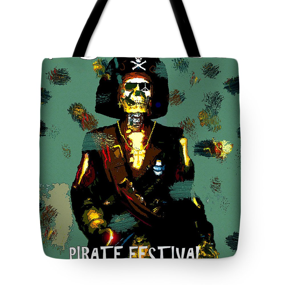Gasparilla Tote Bag featuring the painting Gasparilla Pirate Fest 2015 Full Work by David Lee Thompson