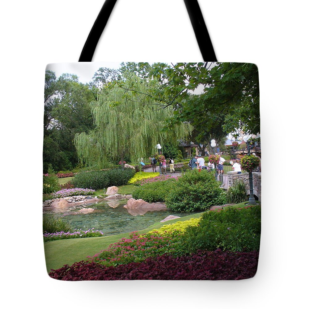 Sunken Garden Tote Bag featuring the photograph Garden Display At Canada Pavilion by Lingfai Leung