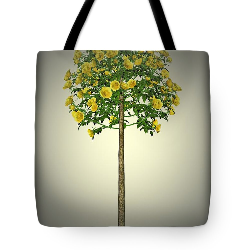Garden Tote Bag featuring the painting Garden Flowers 2 by Movie Poster Prints