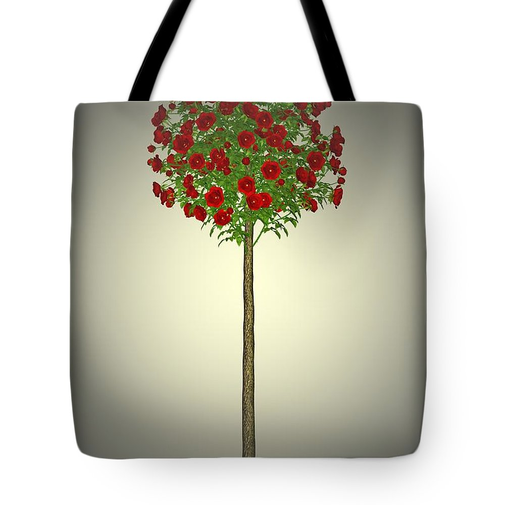 Garden Tote Bag featuring the painting Garden Flowers 4 by Movie Poster Prints