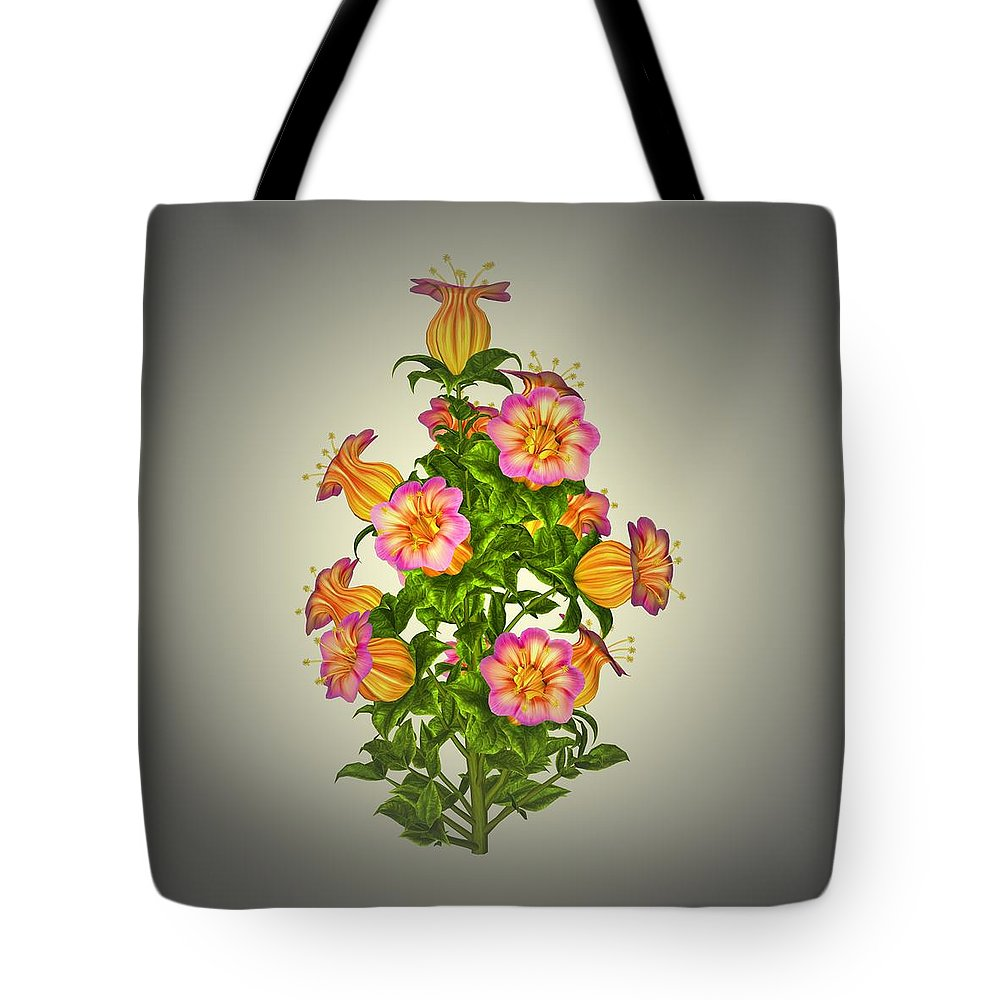 Garden Tote Bag featuring the painting Garden Flowers 6 by Movie Poster Prints