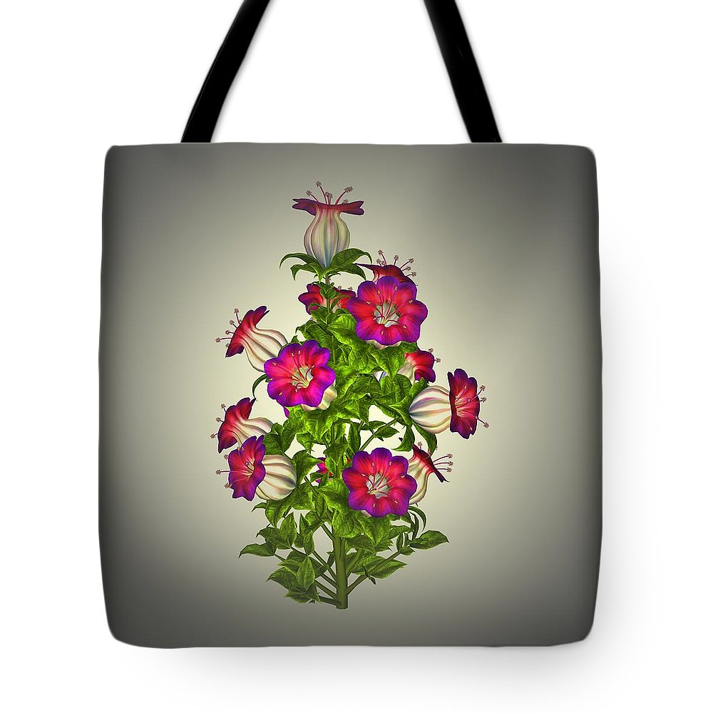 Garden Tote Bag featuring the painting Garden Flowers 7 by Movie Poster Prints