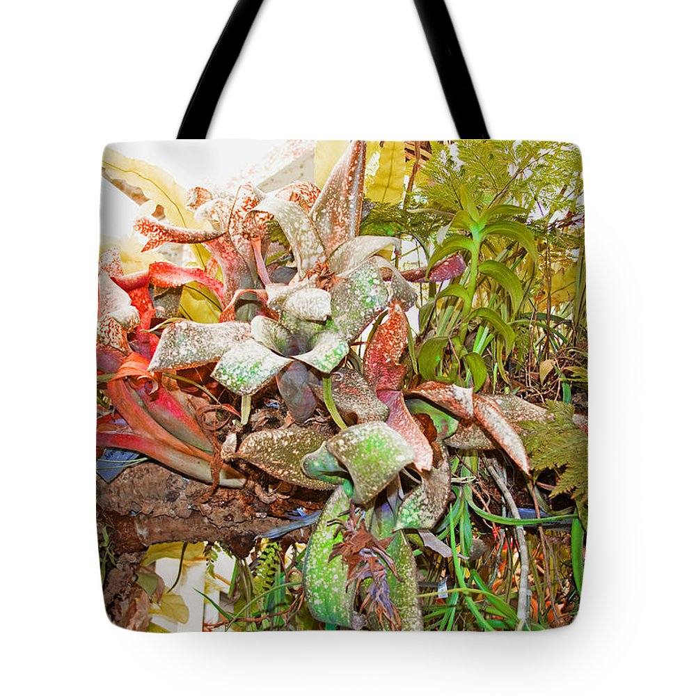 Flowers Tote Bag featuring the painting Garden by Manuel Lopez