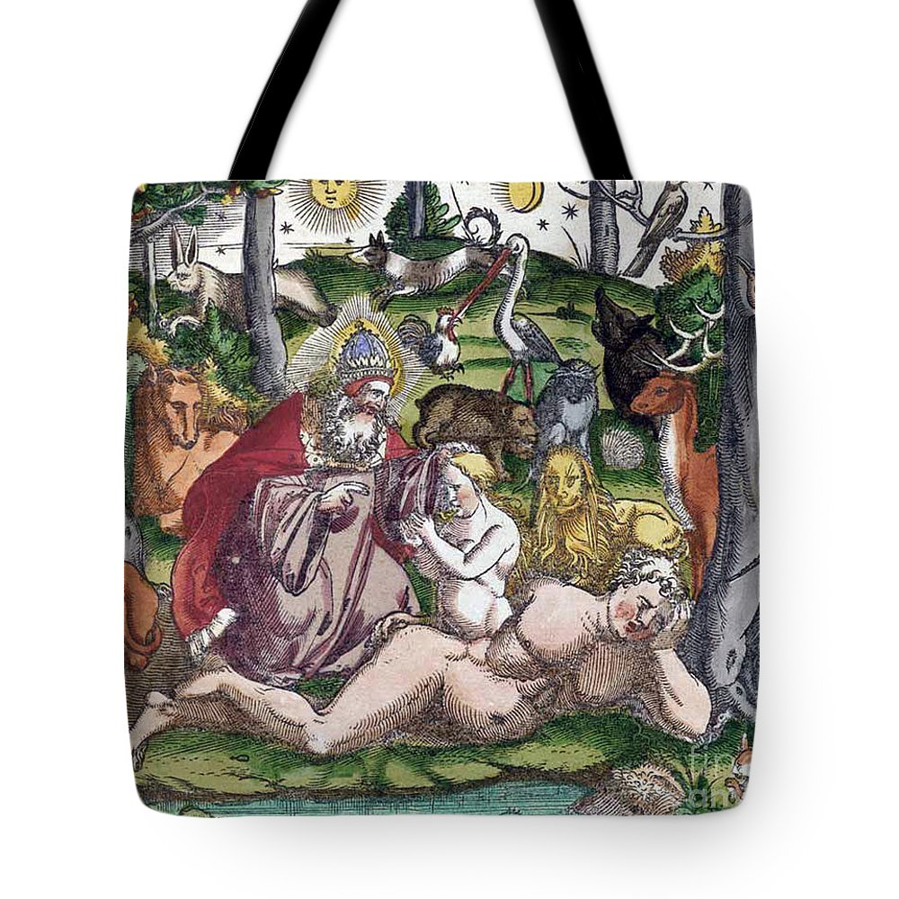 Science Tote Bag featuring the photograph Garden Of Eden Historiae Animalium by Science Source
