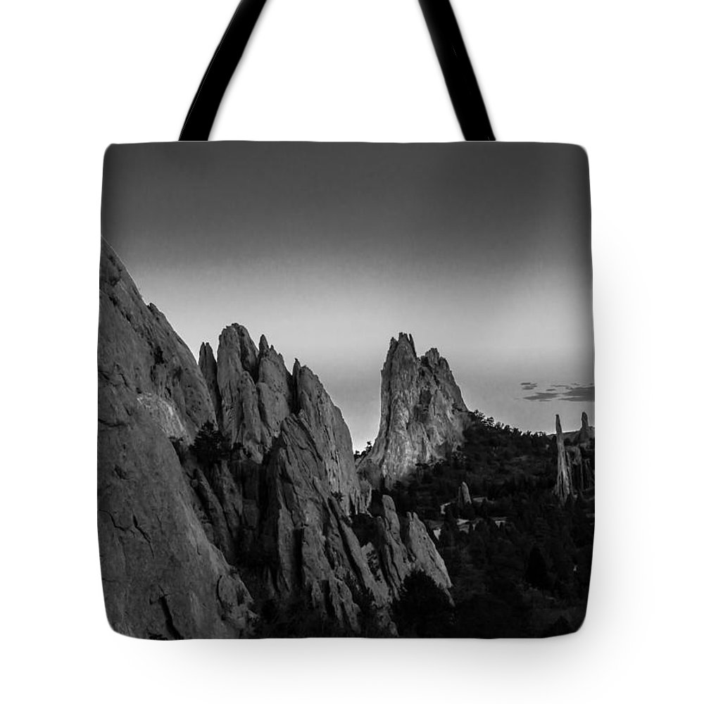 Garden Of The Gods Tote Bag featuring the photograph Garden Of The Gods by Ray Sheley