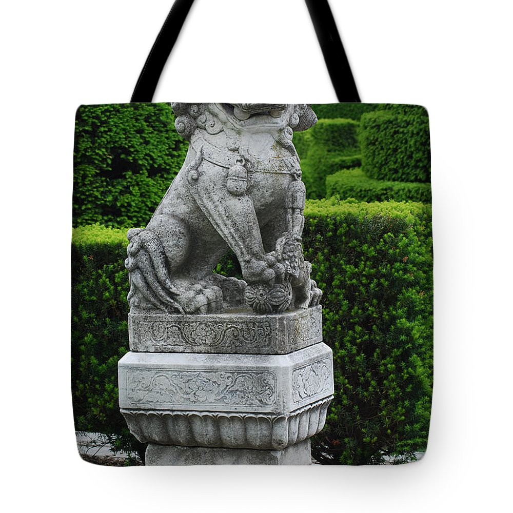 Longwood Tote Bag featuring the photograph Garden Statue by Richard Bryce and Family