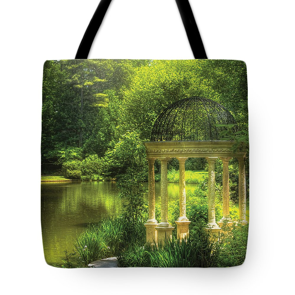 Savad Tote Bag featuring the photograph Garden - The Temple Of Love by Mike Savad