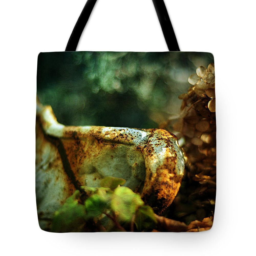 Rust Tote Bag featuring the photograph Garden Vintage by Rebecca Sherman
