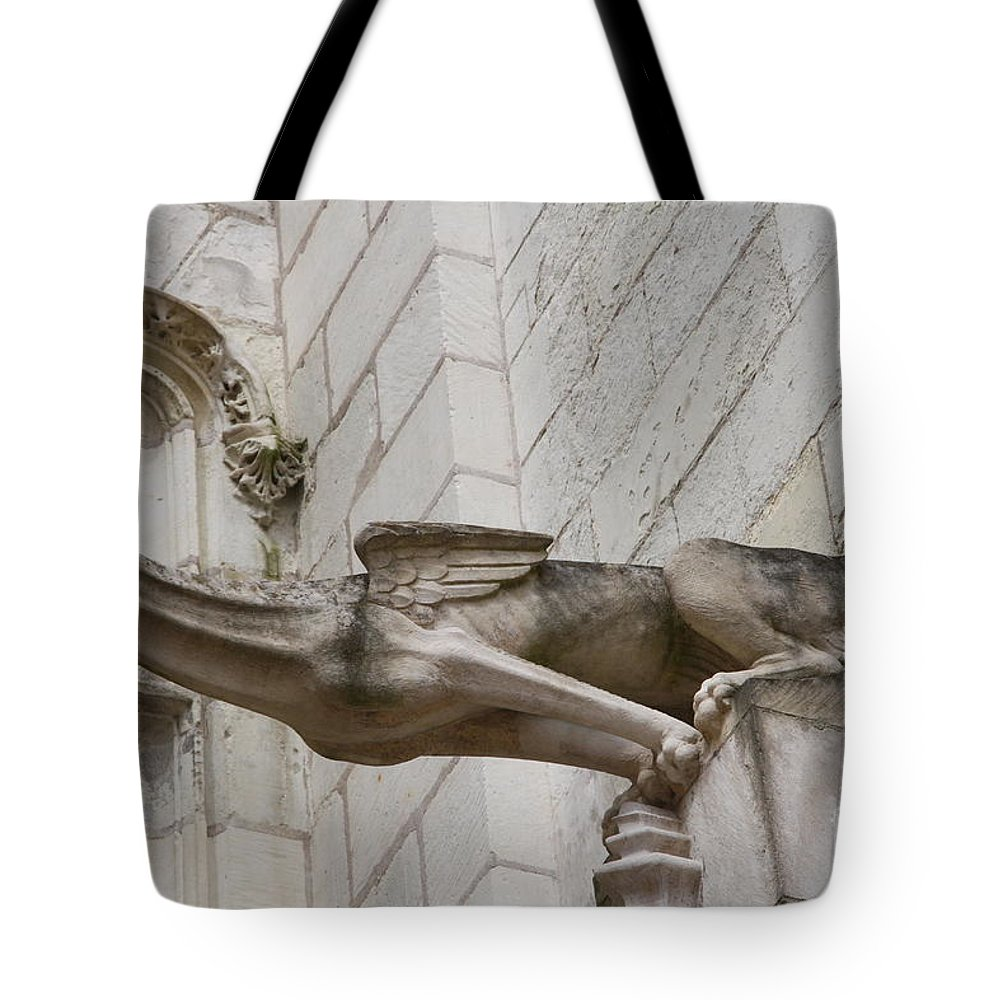 Gargole Tote Bag featuring the photograph Gargoyle Cathedral Tours by Christiane Schulze Art And Photography