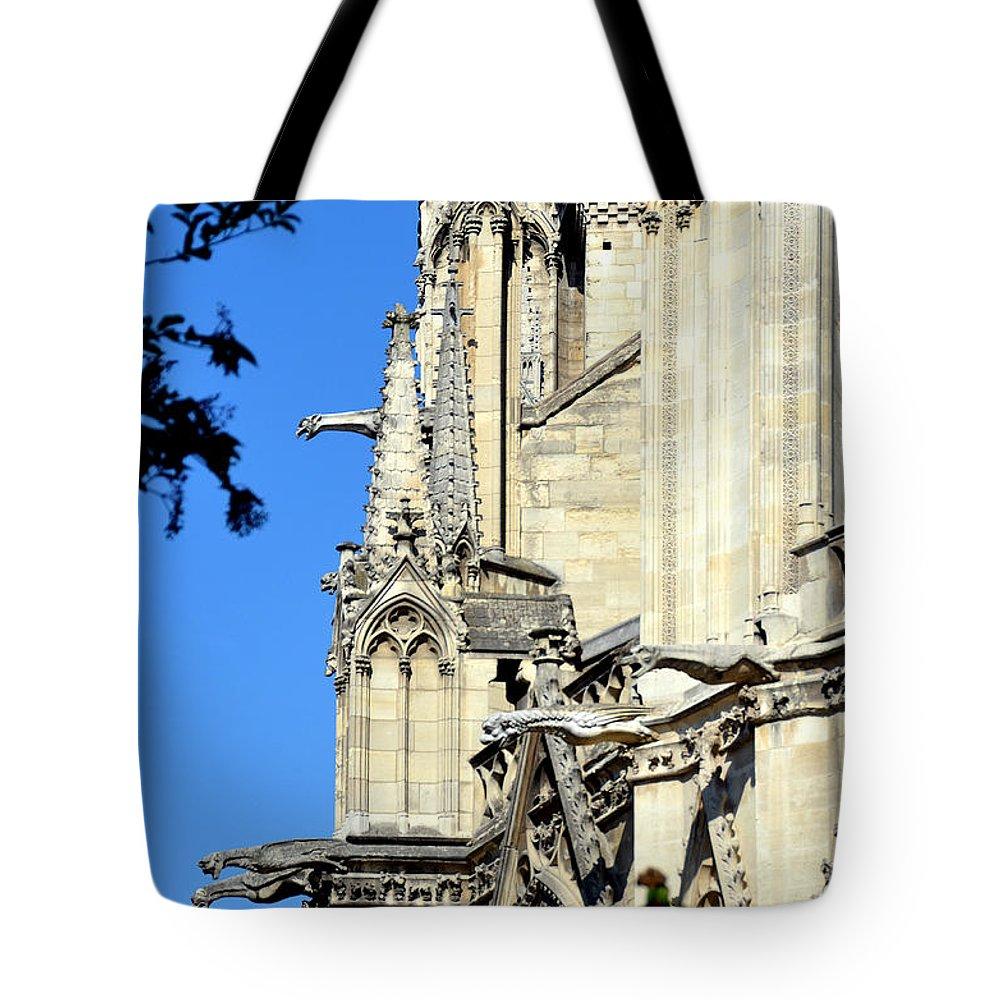 Notre Dame Tote Bag featuring the photograph Gargoyles Of Notre Dame De Paris by Carla Parris