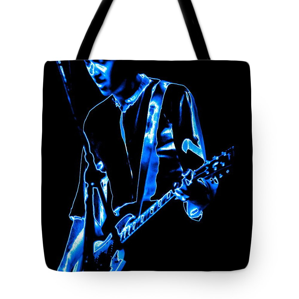Gary Pihl Tote Bag featuring the photograph Gary Pihl Plays The Blues by Ben Upham
