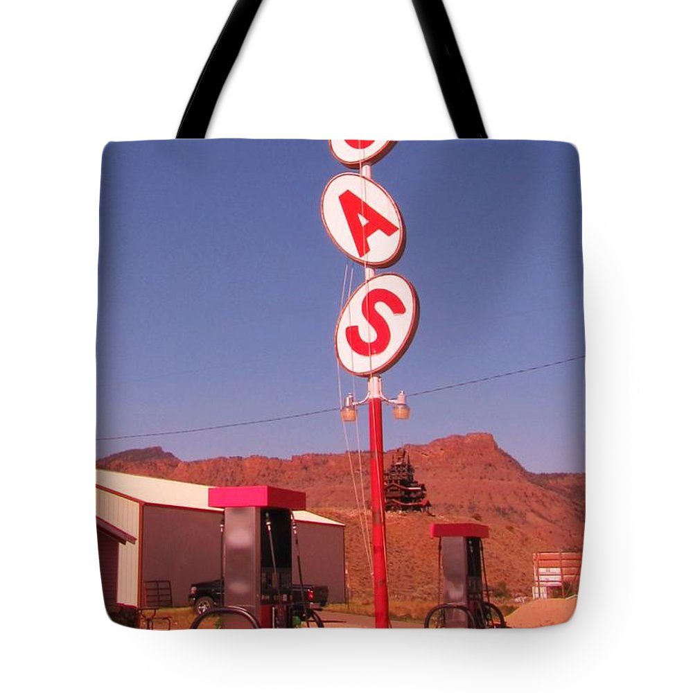 Gas Tote Bag featuring the photograph Gas by John Malone