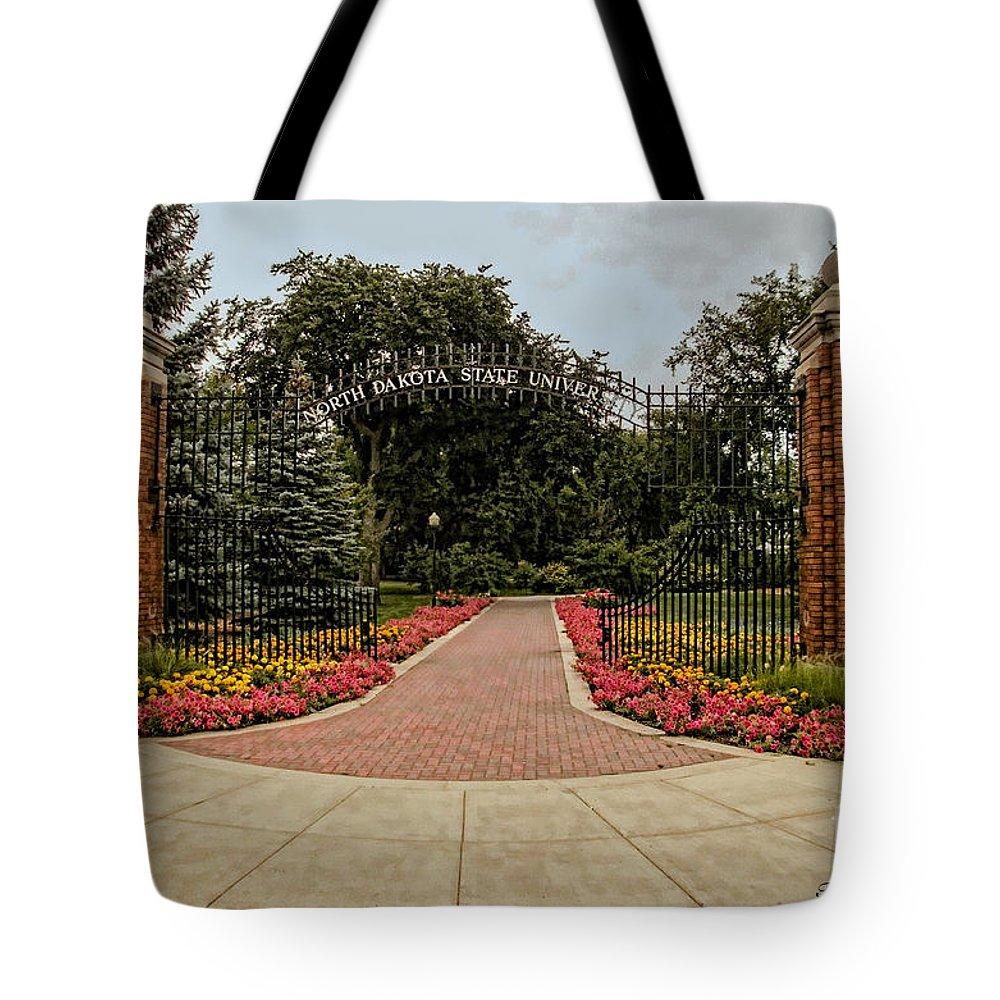 North Dakota State University Tote Bag featuring the photograph Gateway To Ndsu by Trey Foerster