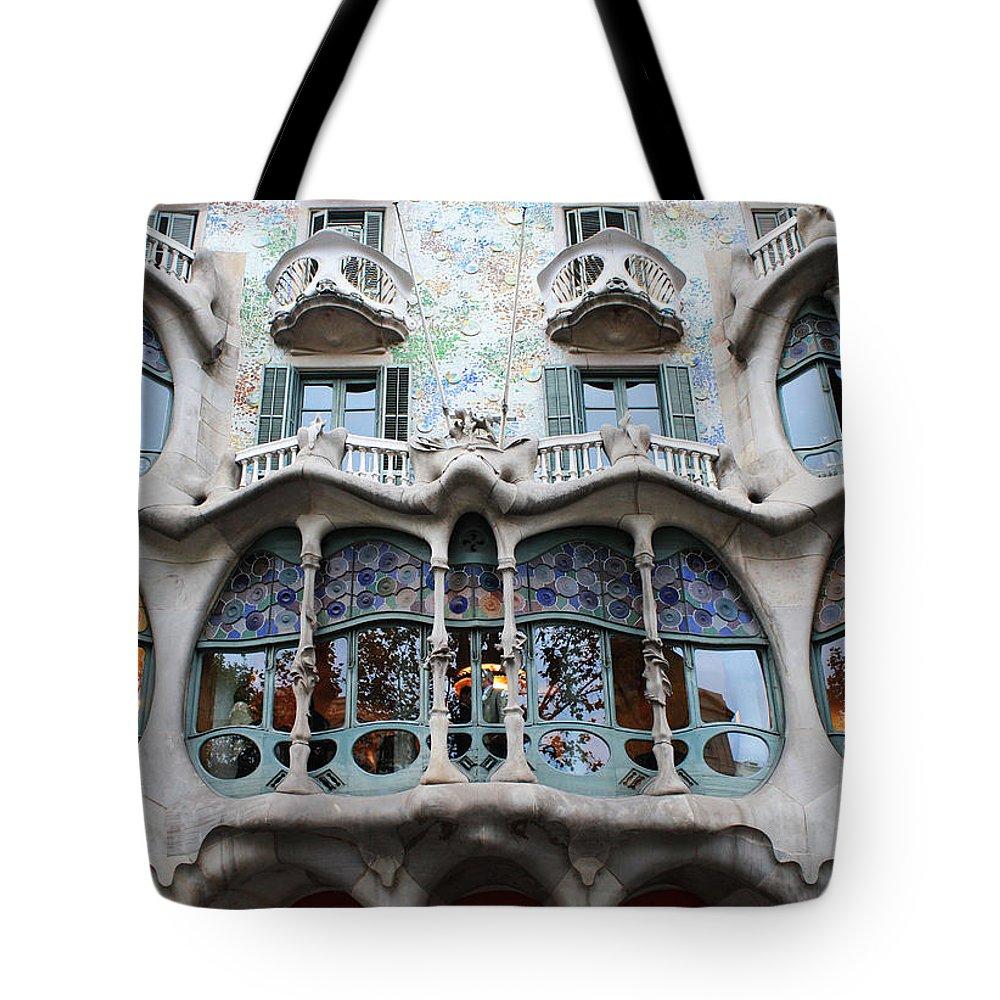 Gaudi Tote Bag featuring the photograph Gaudi Architecture 3 Barcelona Spain by Bridget Brummel
