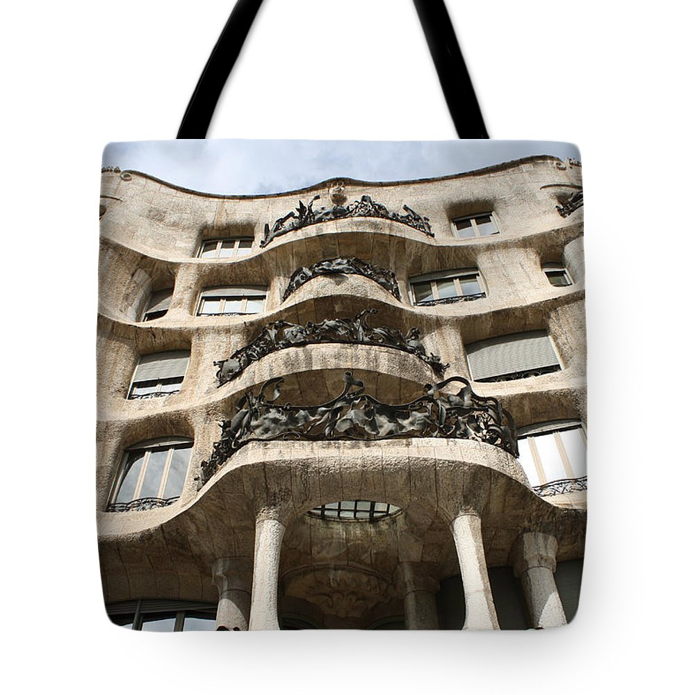 Gaudi Tote Bag featuring the photograph Gaudi Architecture Barcelona Spain by Bridget Brummel