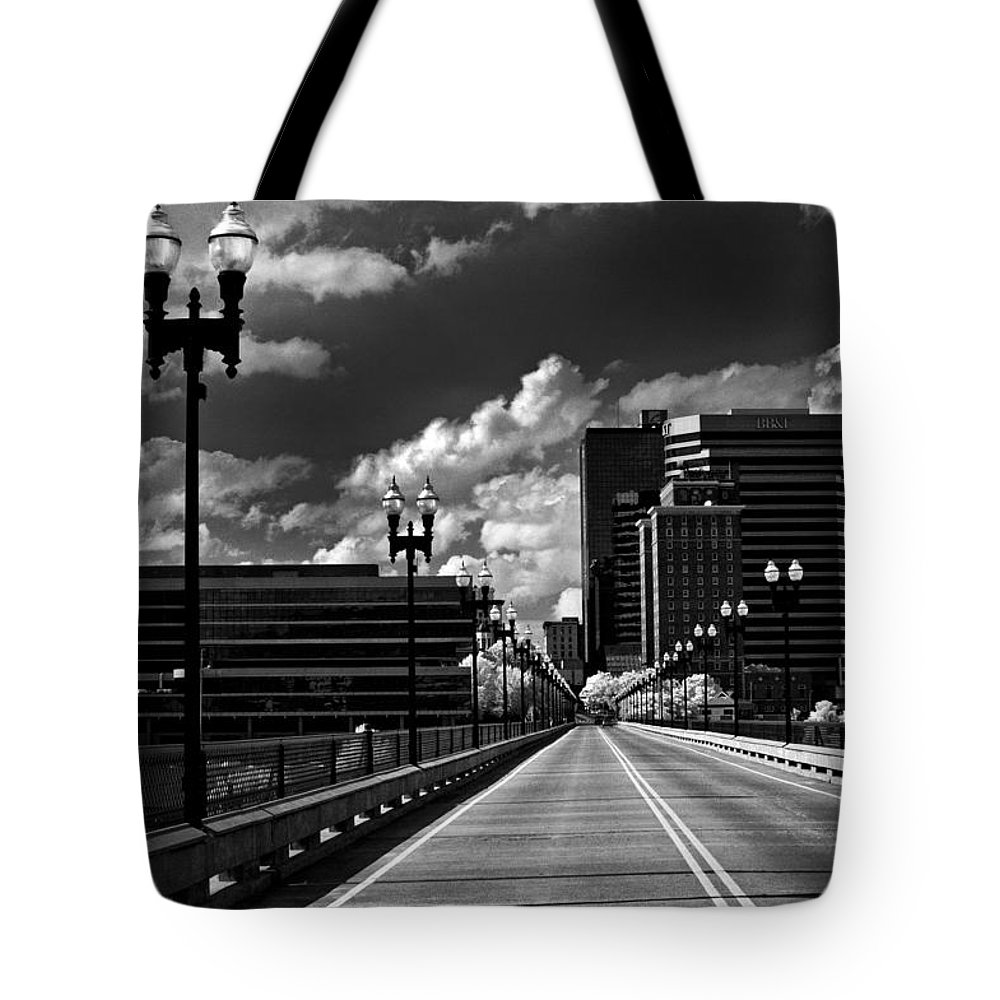 Infrared Tote Bag featuring the photograph Gay Street Bridge - Knoxville by Paul W Faust - Impressions of Light