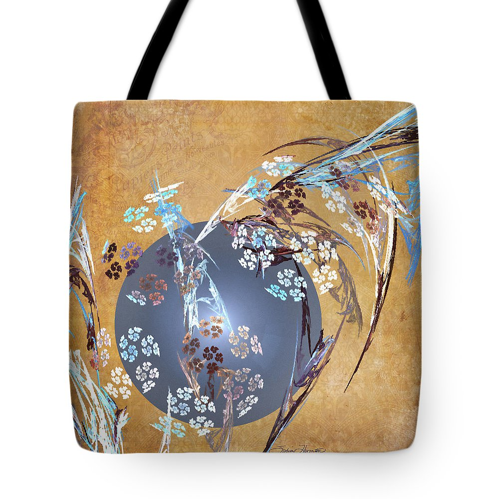 Fractal Tote Bag featuring the photograph Geisha Moon by Sylvia Thornton