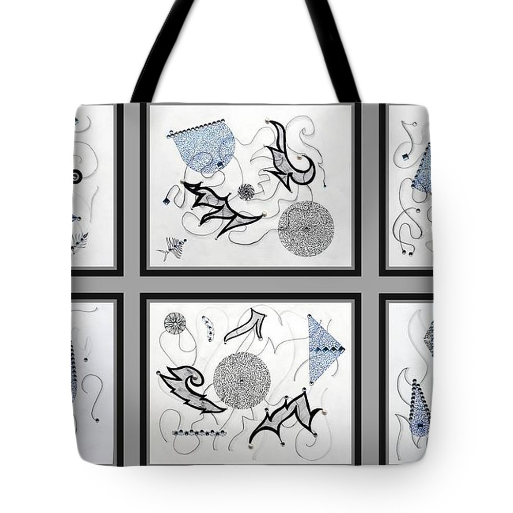 Mix Media Tote Bag featuring the mixed media Gem-tle by Sumit Mehndiratta