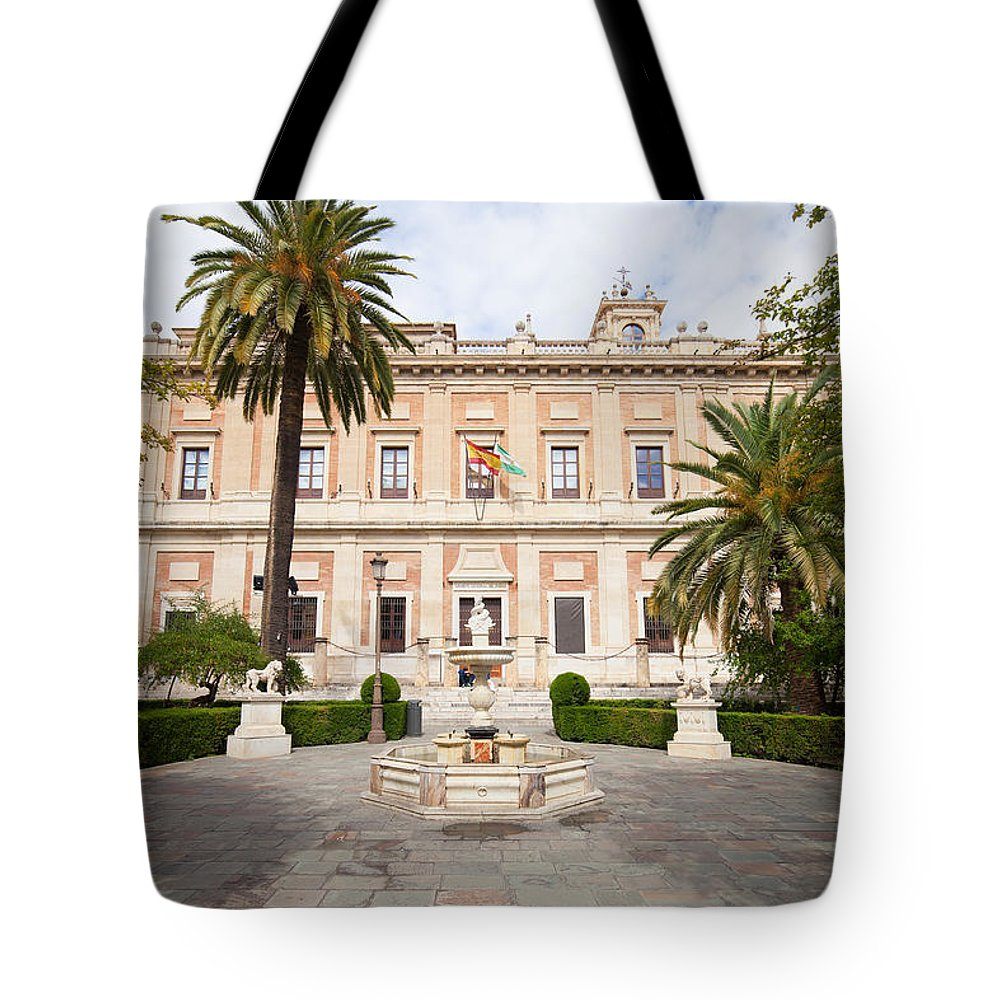 Seville Tote Bag featuring the photograph General Archive Of The Indies In Seville by Artur Bogacki