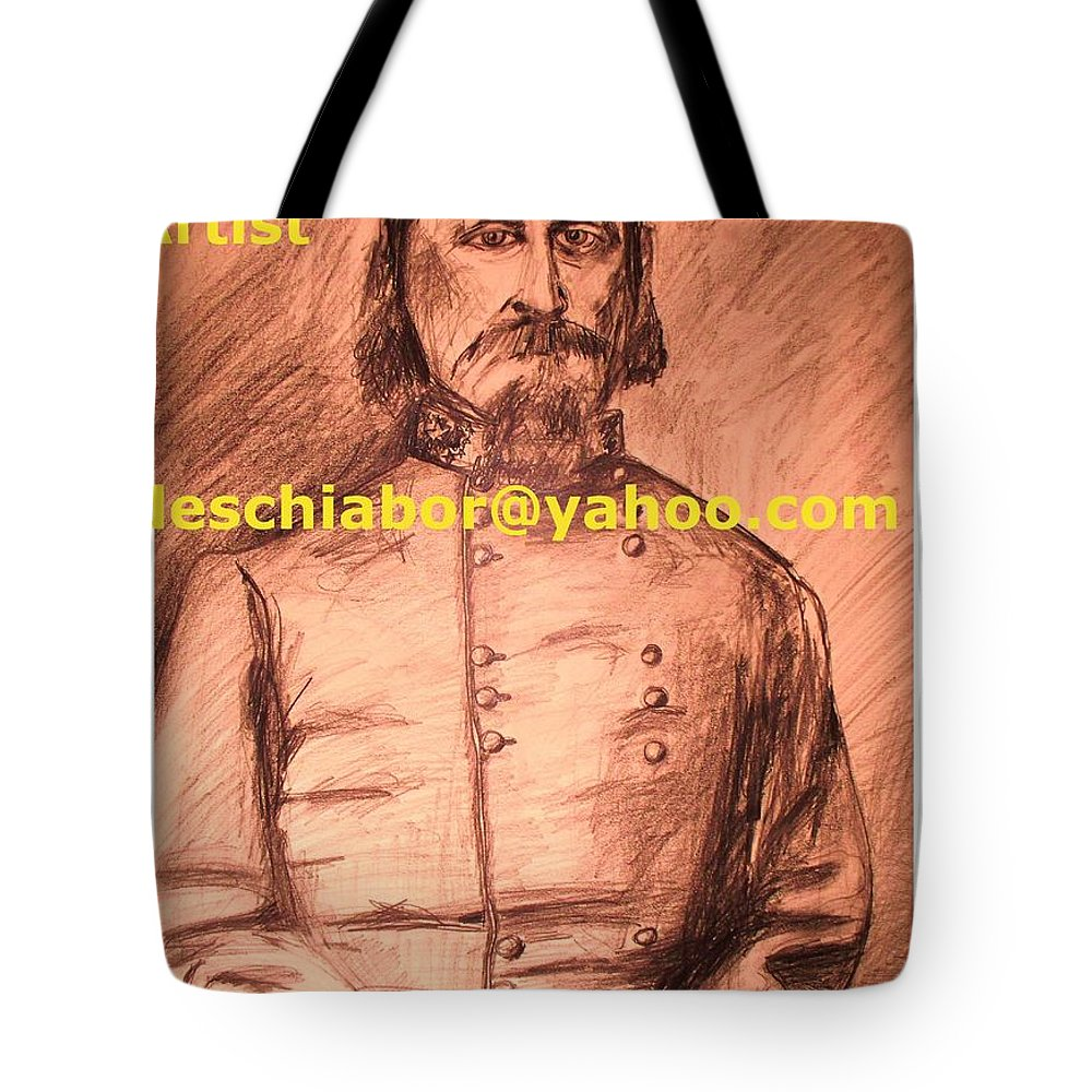 General Pickett Tote Bag featuring the painting General Pickett Confederate by Eric Schiabor