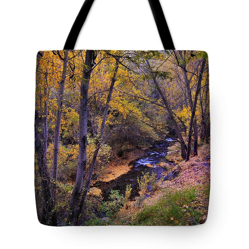 Fall Tote Bag featuring the photograph Genil River by Guido Montanes Castillo