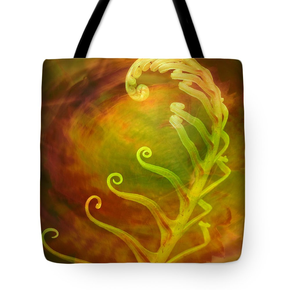 Artistic Tote Bag featuring the photograph Gensis by Alice Cahill