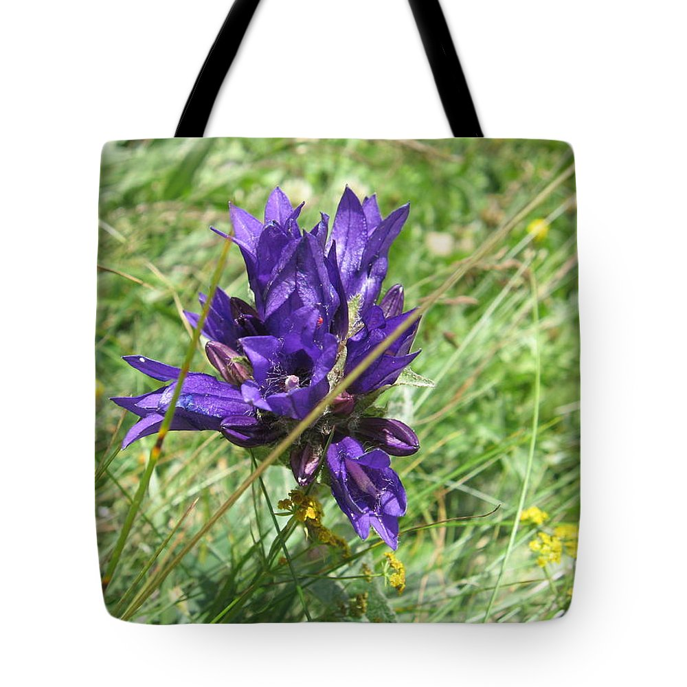 Gentian Tote Bag featuring the photograph Gentian by Alina Cristina Frent