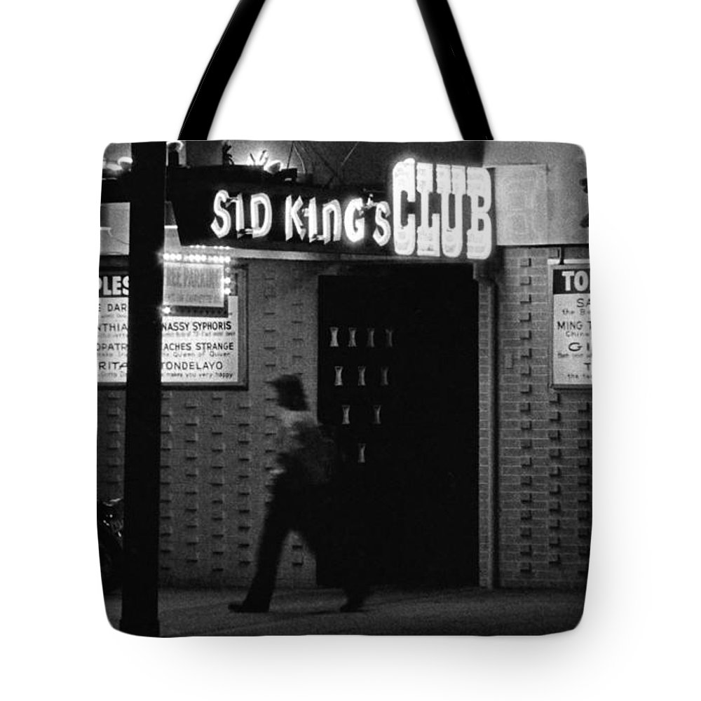 black And White Tote Bag featuring the photograph Gentleman's Club by David Gilbert