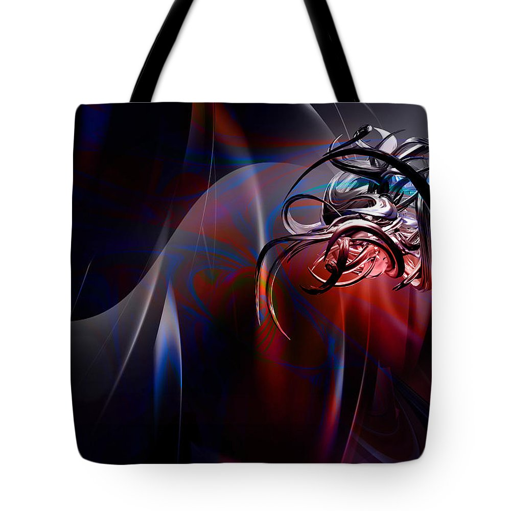Geometric Tote Bag featuring the digital art Geometric 6 by Mark Ashkenazi