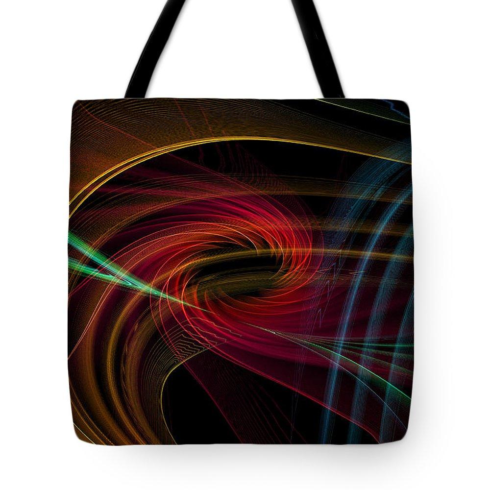 Contemporary Tote Bag featuring the digital art Geometric 8 by Mark Ashkenazi