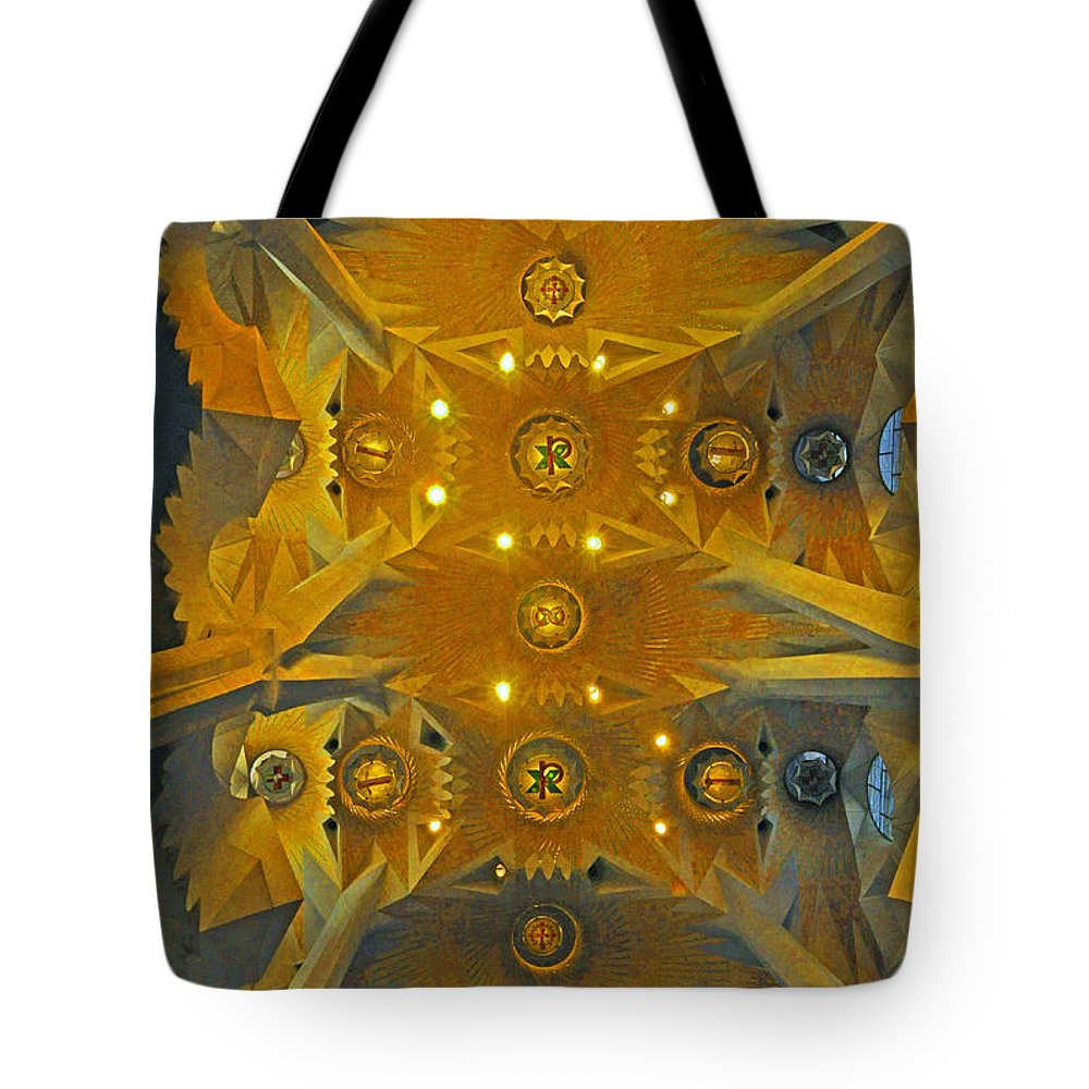 Geometric Abstract Tote Bag featuring the photograph Geometric Abstract by Cindy Lee Longhini