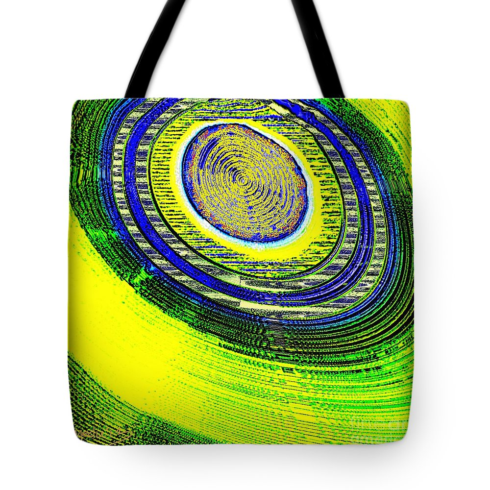 Art Prints Tote Bag featuring the painting Geometrica 130 by Nedunseralathan R