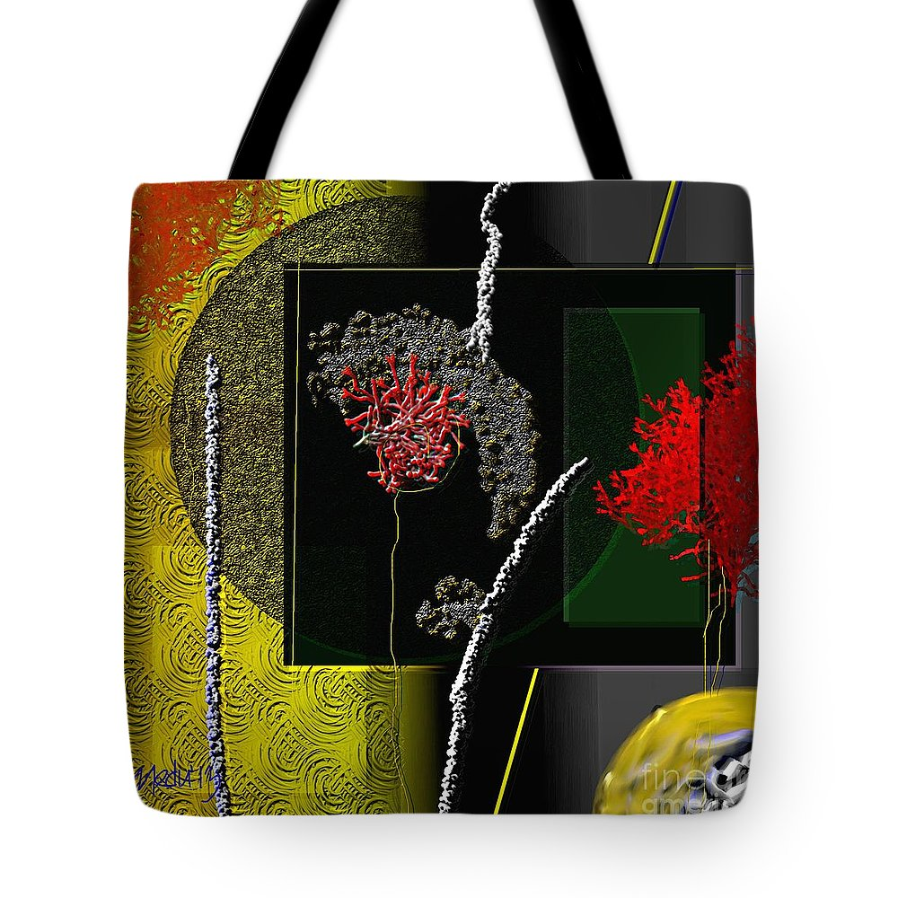 Art Prints Tote Bag featuring the painting Geometrica 151 by Nedunseralathan R