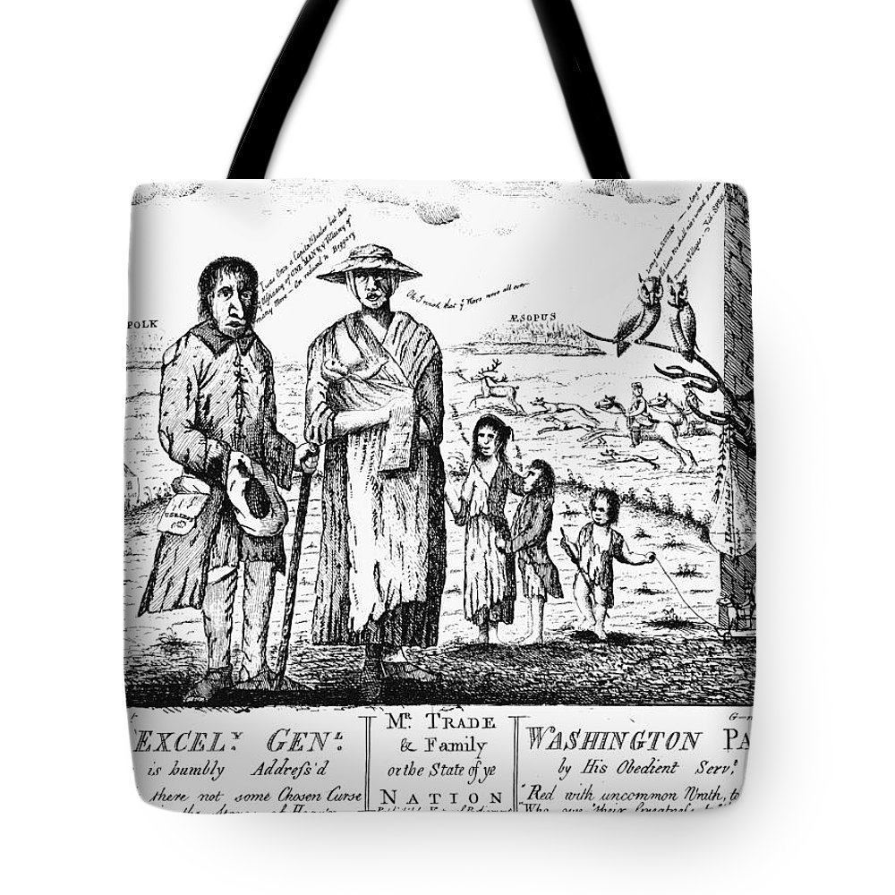 1779 Tote Bag featuring the photograph George IIi Cartoon, 1779 by Granger